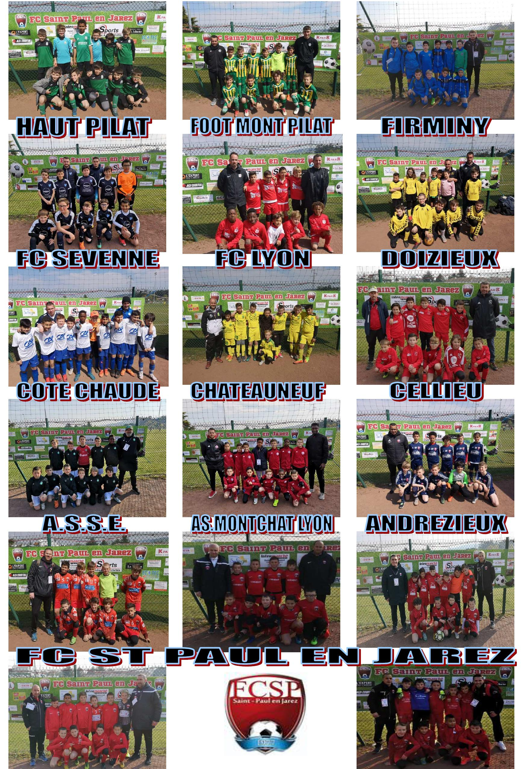 Photos quipes 2 tournoi U11 19