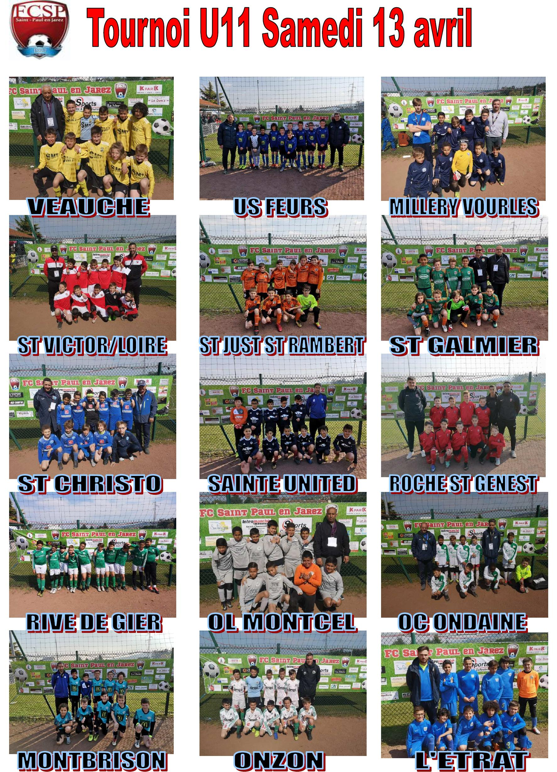 Photos quipes tournoi U11 19